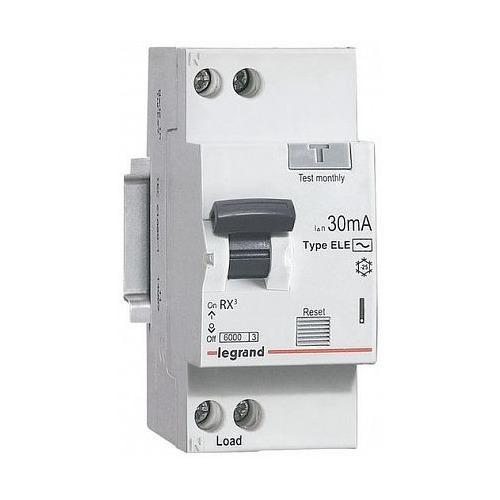 Выключатель автом. дифф. тока Legrand RX3 (419400) 20A 6kA 30мА AC 1П+Н 230В 2мод