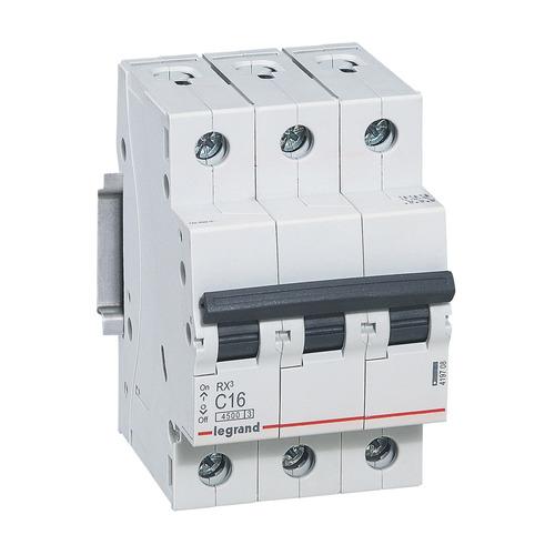 Выключатель автоматический Legrand RX3 (419708) 16A тип C 4.5kA 3П 400В 3мод