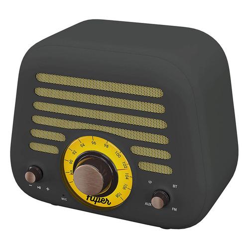 Портативная колонка HIPER Retro L, 5Вт, серый / желтый [retro l gray]