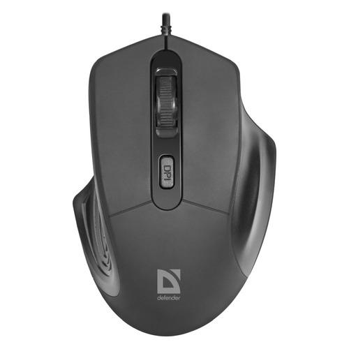 Мышь Defender Datum MB-347, оптическая, проводная, USB, черный [52347]
