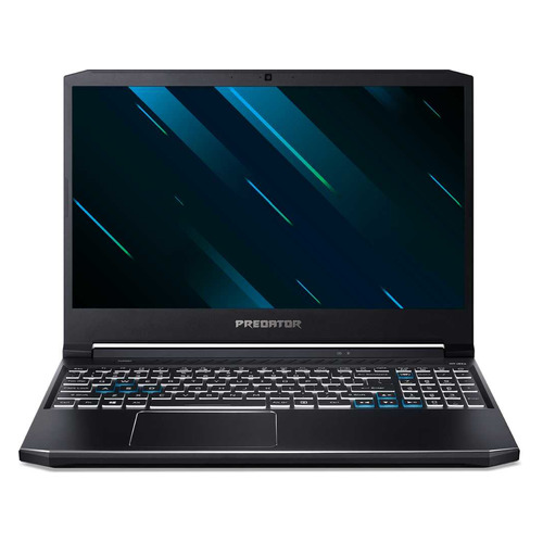 Фото - Ноутбук ACER Predator Helios 300 PH315-53-5602, 15.6, IPS, Intel Core i5 10300H 2.5ГГц, 8ГБ, 512ГБ SSD, NVIDIA GeForce GTX 1650 Ti - 4096 Мб, Eshell, NH.Q7WER.002, черный ноутбук acer nitro 5 an517 52 77f7 17 3 ips intel core i7 10750h 2 6ггц 8гб 512гб ssd nvidia geforce gtx 1650 ti 4096 мб eshell nh q82er 003 черный