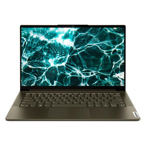 """Ноутбук LENOVO Yoga Slim7 14IIL05, 14"""", IPS, Intel Core i5 1035G4 1.1ГГц, 16ГБ, 512ГБ SSD, Intel Iris Plus graphics , Windows 10, 82A100H5RU, темно-зеленый"""
