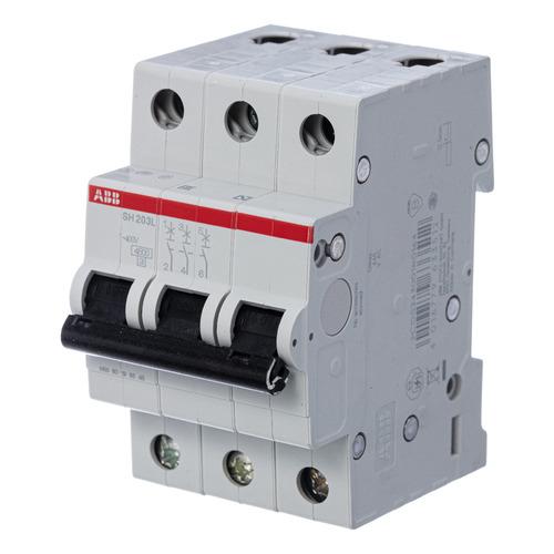 Выключатель автоматический ABB SH203L (2CDS243001R0104) 10A тип C 4.5kA 3П 400В 3мод выключатель автоматический schneider electric easy 9 ez9f34310 10a тип c 4 5ka 3п 400в 3мод
