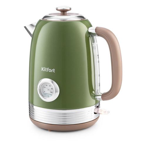 Чайник электрический KITFORT KT-6110, 2200Вт, зеленый
