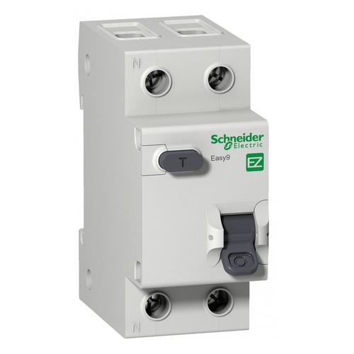 Выключатель автом. дифф. тока Schneider Electric Easy 9 (EZ9D34610) 10A тип C 4.5kA 30мА AC 1П+Н 230 выключатель автоматический schneider electric easy 9 ez9f34110 10a тип c 4 5ka 1п 230в 1мод