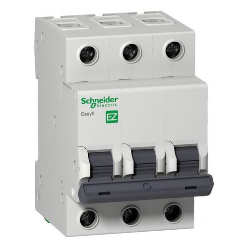 Выключатель автоматический Schneider Electric Easy 9 (EZ9F34306) 6A тип C 4.5kA 3П 400В 3мод выключатель автоматический schneider electric easy 9 ez9f34310 10a тип c 4 5ka 3п 400в 3мод