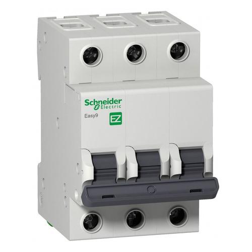 Выключатель автоматический Schneider Electric Easy 9 (EZ9F34316) 16A тип C 4.5kA 3П 400В 3мод автоматический выключатель schneider electric ez9f34416 easy 9 4p 16a c