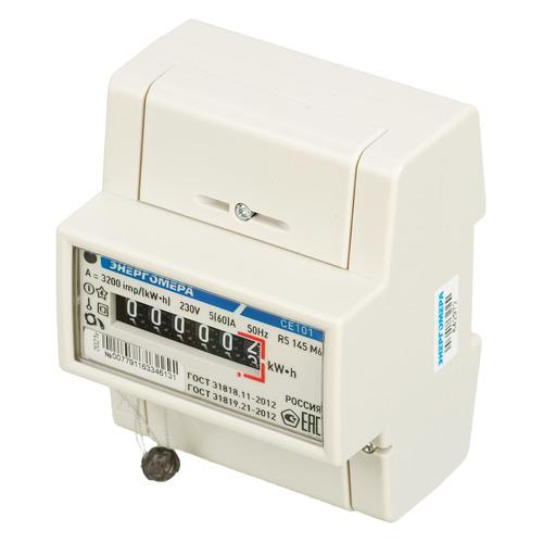 Счетчик электроэнергии Энергомера СЕ 101 R5 145 М6 одноф. однотариф. 5(60)A DIN (101001003007791)
