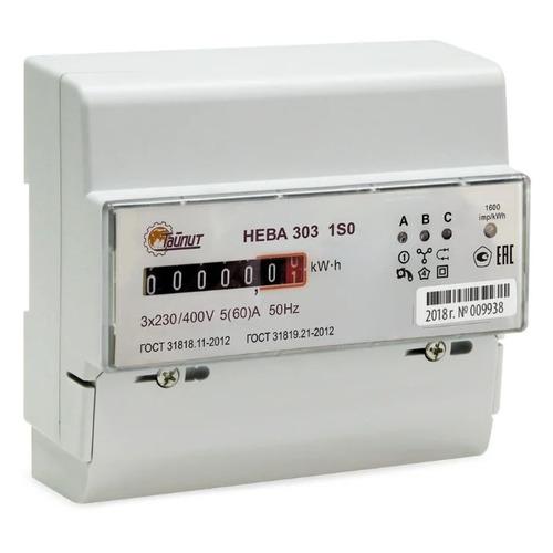 Счетчик электроэнергии Тайпит Нева 303 1S0 трехф. однотариф. 5(60)A DIN (6056054)
