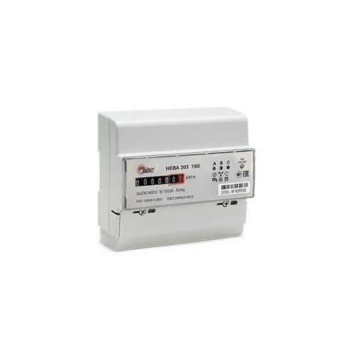 Счетчик электроэнергии Тайпит Нева 303 1S0 трехф. однотариф. 5(100)A DIN (6056053)