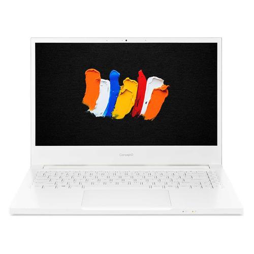 Ноутбук Acer ConceptD 3 Pro CN314-72P-71CP, 14, IPS, Intel Core i7 10750H 2.6ГГц, 16ГБ, 512ГБ SSD, NVIDIA GeForce T1000 - 4096 Мб, Windows 10 Professional, NX.C5VER.002, белый ноутбук acer travelmate x3 tmx314 51 mg 71y9 14 intel core i7 8565u 1 8ггц 8гб 512гб ssd nvidia geforce mx230 2048 мб windows 10 professional nx vjuer 004 серый
