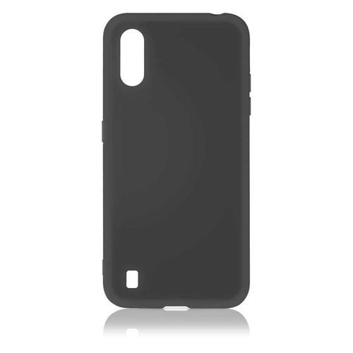 Чехол (клип-кейс) DF sOriginal-15, для Samsung Galaxy M01, черный [df soriginal-15 (black)] чехол клип кейс df soriginal 16 для samsung galaxy m51 черный [df soriginal 16 black ]