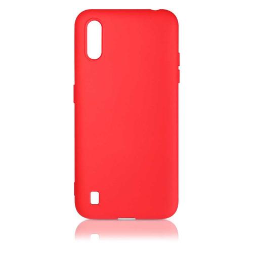 Чехол (клип-кейс) DF sOriginal-15, для Samsung Galaxy M01, красный [df soriginal-15 (red)] чехол клип кейс df soriginal 16 для samsung galaxy m51 черный [df soriginal 16 black ]
