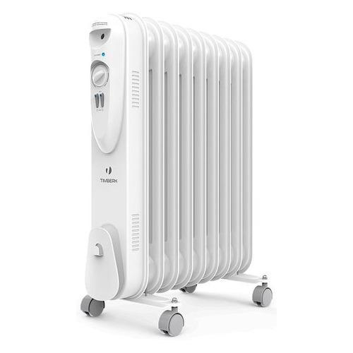 Масляный радиатор TIMBERK TOR 21.2211 SLX, 2200Вт, белый биметаллический радиатор rifar рифар b 500 нп 10 сек лев кол во секций 10 мощность вт 2040 подключение левое