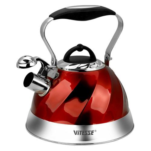 Металлический чайник Vitesse Thelma, 3л, красный [vs-1119] чайник металлический bk s637 3л