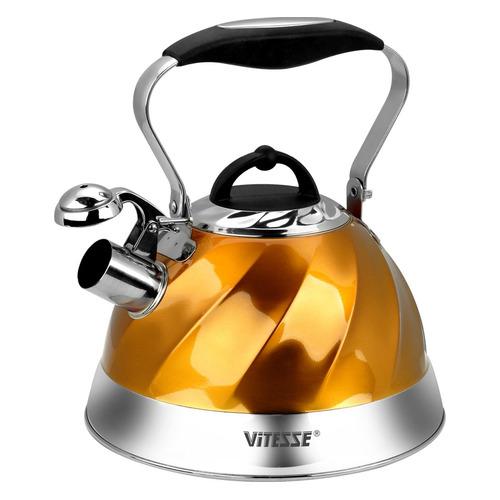Металлический чайник Vitesse Thelma, 3л, желтый [vs-1119] чайник металлический bk s637 3л