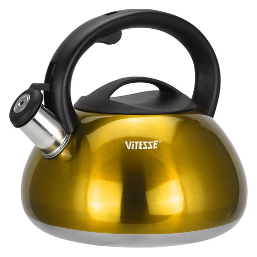 Металлический чайник Vitesse VS-1121, 3л, желтый чайник металлический bk s637 3л