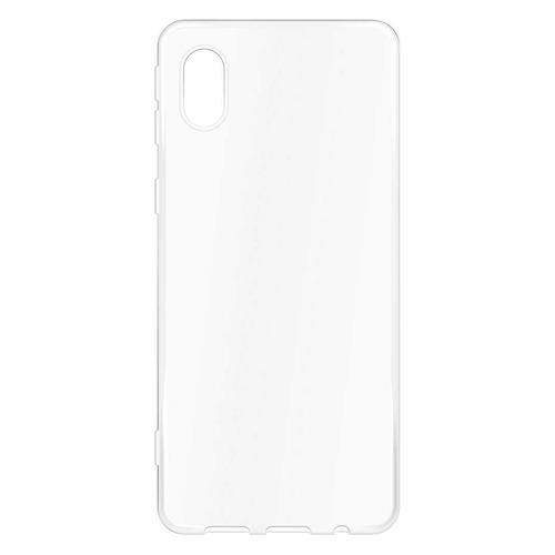 Чехол (клип-кейс) BORASCO Silicone case, для Samsung Galaxy A01 Core, прозрачный [39203] аксессуар чехол для samsung galaxy a5 2016 borasco silicone transparent