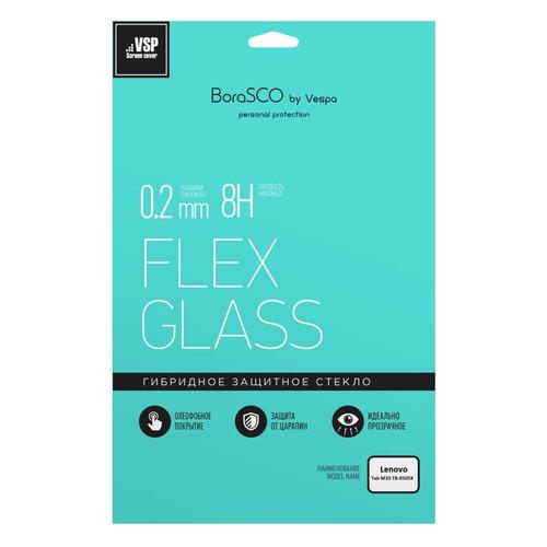 Фото - Защитное стекло BORASCO Hybrid Glass для Lenovo Tab M10 TB-X505X, 10.1, 234 х 162 мм, 1 шт [39254] защитное стекло для экрана borasco hybrid glass для bq magic гибридная 1 шт [40029]