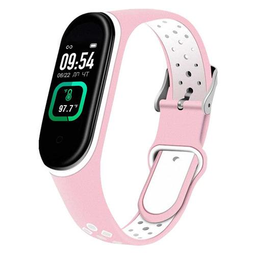 Фото - Фитнес-трекер SMARTERRA FitMaster Ton, 0.96, черный / розовый/белый [smft-t04] фитнес браслет smarterra фитнес трекер fitmaster 4 ips красный