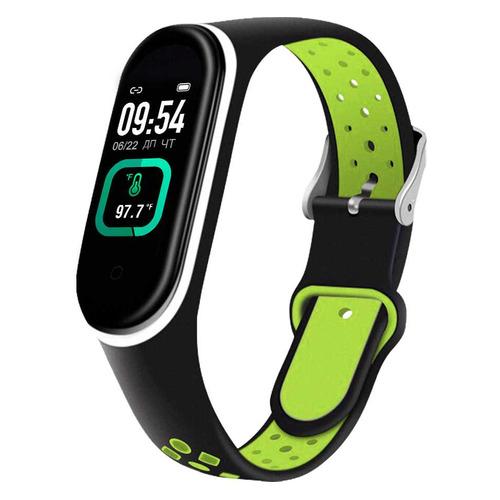 Фото - Фитнес-трекер SMARTERRA FitMaster Ton, 0.96, черный / черный/зеленый [smft-t02] фитнес браслет smarterra фитнес трекер fitmaster 4 ips красный