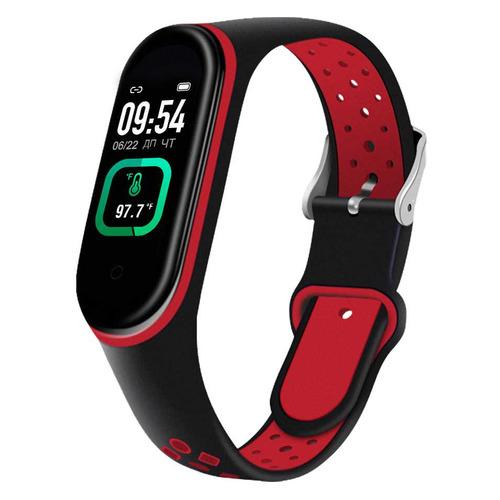 Фото - Фитнес-трекер SMARTERRA FitMaster Ton, 0.96, черный / черный/красный [smft-t07] фитнес браслет smarterra фитнес трекер fitmaster 4 ips красный