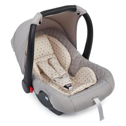 Автокресло детское HAPPY BABY Skyler V2, 0/0+, от 0 до 12 мес, серый/бежевый