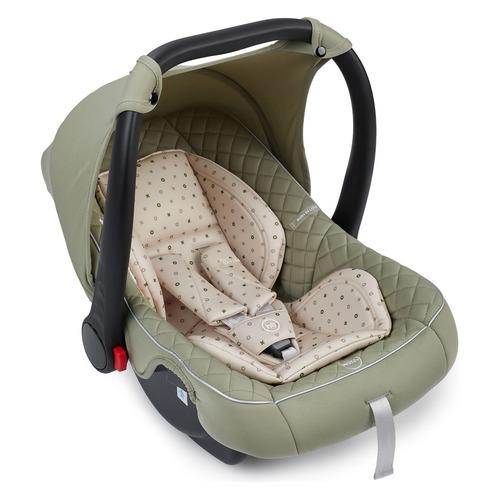 Автокресло детское HAPPY BABY Skyler V2, 0/0+, от 0 до 12 мес, зеленый/бежевый