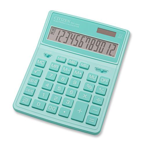 Калькулятор CITIZEN SDC-444XRGNE, 12-разрядный, бирюзовый