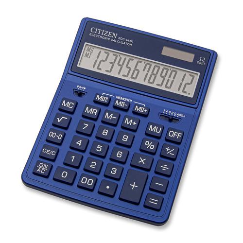 Калькулятор CITIZEN SDC-444XRNVE, 12-разрядный, темно-синий