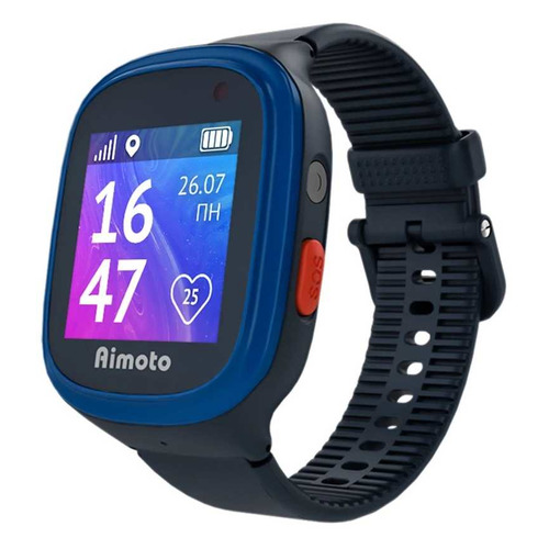 Смарт-часы КНОПКА ЖИЗНИ Aimoto Start 2, 1.44, синий / черный [9900202] умные часы кнопка жизни aimoto rapunzel
