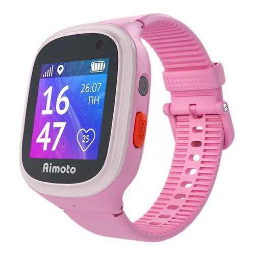 Смарт-часы КНОПКА ЖИЗНИ Aimoto Start 2, 1.44, розовый / розовый [9900201] умные часы кнопка жизни aimoto rapunzel