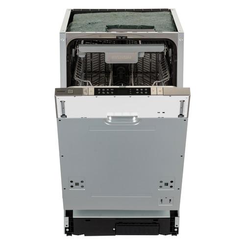 Посудомоечная машина узкая HYUNDAI HBD 480, серебристый