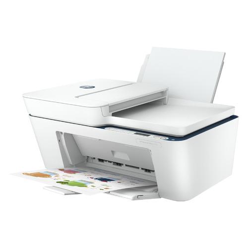 Фото - МФУ струйный HP DeskJet Plus 4130, A4, цветной, струйный, белый [7fs77b] мфу струйный hp smart tank 515 aio a4 цветной струйный черный [1tj09a]