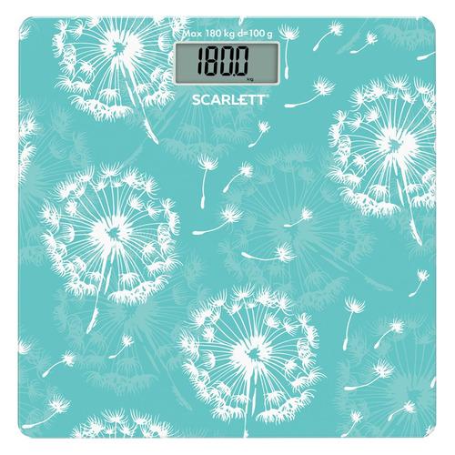 Напольные весы SCARLETT SC-BS33E048, до 180кг, цвет: рисунок весы напольные электронные scarlett sc bs33e031 макс 180кг рисунок шерсть