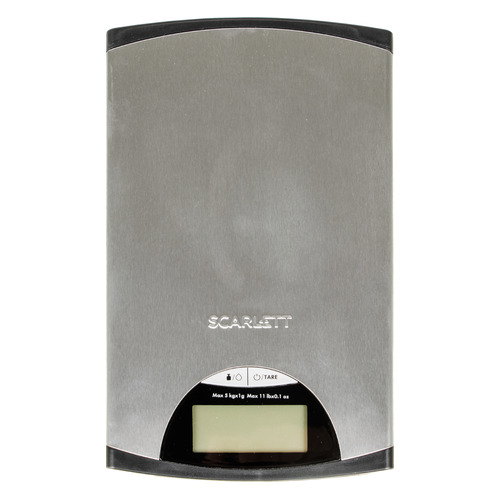 Весы кухонные SCARLETT SC-KS57P97, серебристый/черный