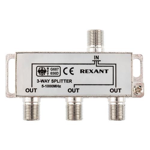 Фото - Сплиттер антенный REXANT 05-6002, F-TV(f) - серебристый делитель спутниковый f типа на 3 tv 5 2500 мгц rexant 10шт