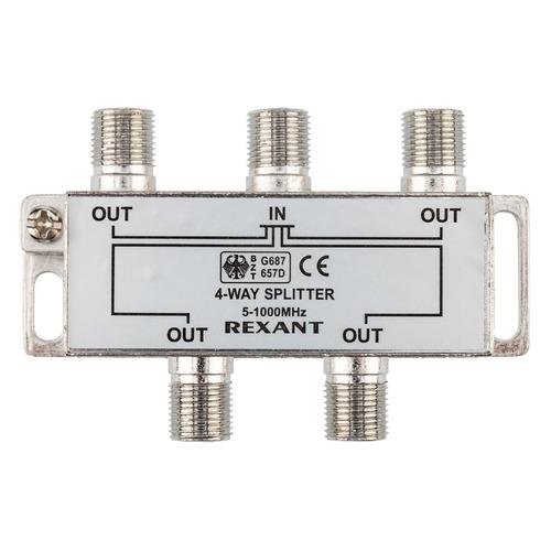 Фото - Сплиттер антенный REXANT 05-6003, F-TV(f) - серебристый делитель спутниковый f типа на 3 tv 5 2500 мгц rexant 10шт