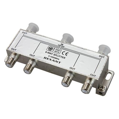 Фото - Сплиттер антенный REXANT 05-6004, F-TV(f) - серебристый делитель спутниковый f типа на 3 tv 5 2500 мгц rexant 10шт