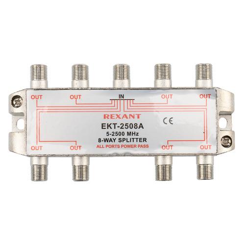 Фото - Сплиттер антенный REXANT 05-6205, F-TV(f) - серебристый делитель спутниковый f типа на 3 tv 5 2500 мгц rexant 10шт