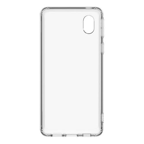 Чехол (клип-кейс) SAMSUNG Soft Clear Cover, для Samsung Galaxy A01 Core, прозрачный [ef-oa013ttegru]