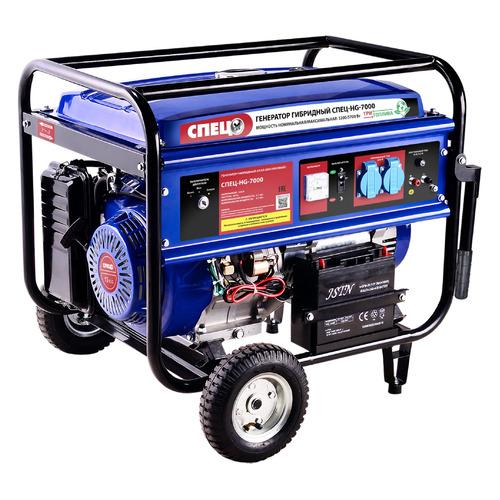 Бензиново-газовый генератор СПЕЦ HG-7000, 220, 5.7кВт [спец-hg-7000]
