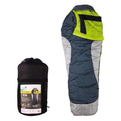 Мешок спальный AceCamp Terrain Mummy Cold Weather прав. кокон дл.:213см синий/серый (3977)
