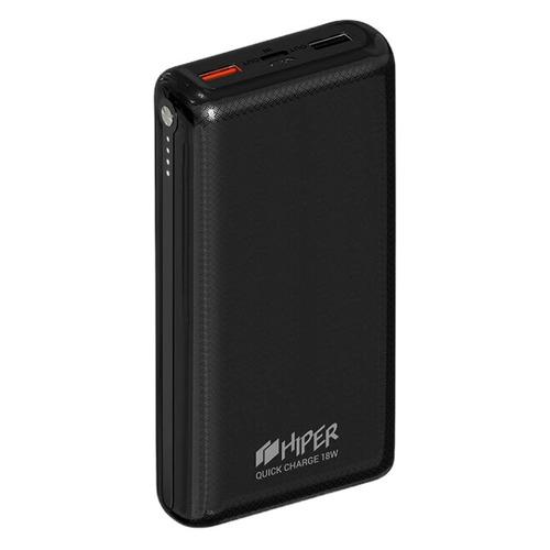 Внешний аккумулятор (Power Bank) HIPER Quick 20000, 20000мAч, черный [quick 20000 black]