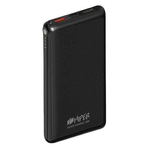 Внешний аккумулятор (Power Bank) HIPER Quick 10000, 10000мAч, черный [quick 10000 black]