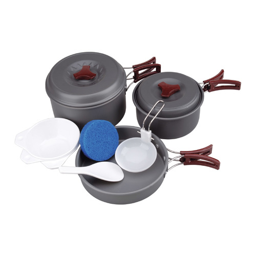 Набор кастрюль AceCamp camp kit M (1658) серый нержавеющая сталь