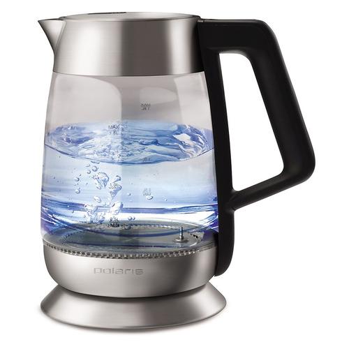 Чайник электрический POLARIS PWK 1898CGLD, 2200Вт, серебристый и черный чайник электрический polaris pwk 1864ca 1800вт серебристый