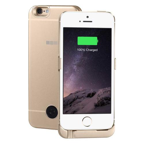 Внешний мод батарея Interstep для iPhone 5/5S/SE 2200mAh Lightning золотистый (45545) чехол аккумулятор interstep metal battery case для iphone 5 5s se silver