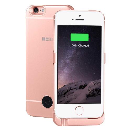 Внешний мод батарея Interstep для iPhone 5/5S/SE 2200mAh Lightning розовый (45547) чехол аккумулятор interstep metal battery case для iphone 5 5s se silver