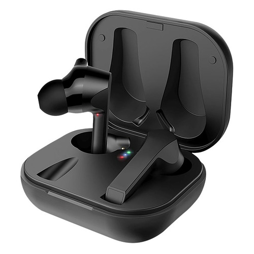 Наушники с микрофоном DEPPA Air Buds, Bluetooth/USB, вкладыши, черный [44168] наушник